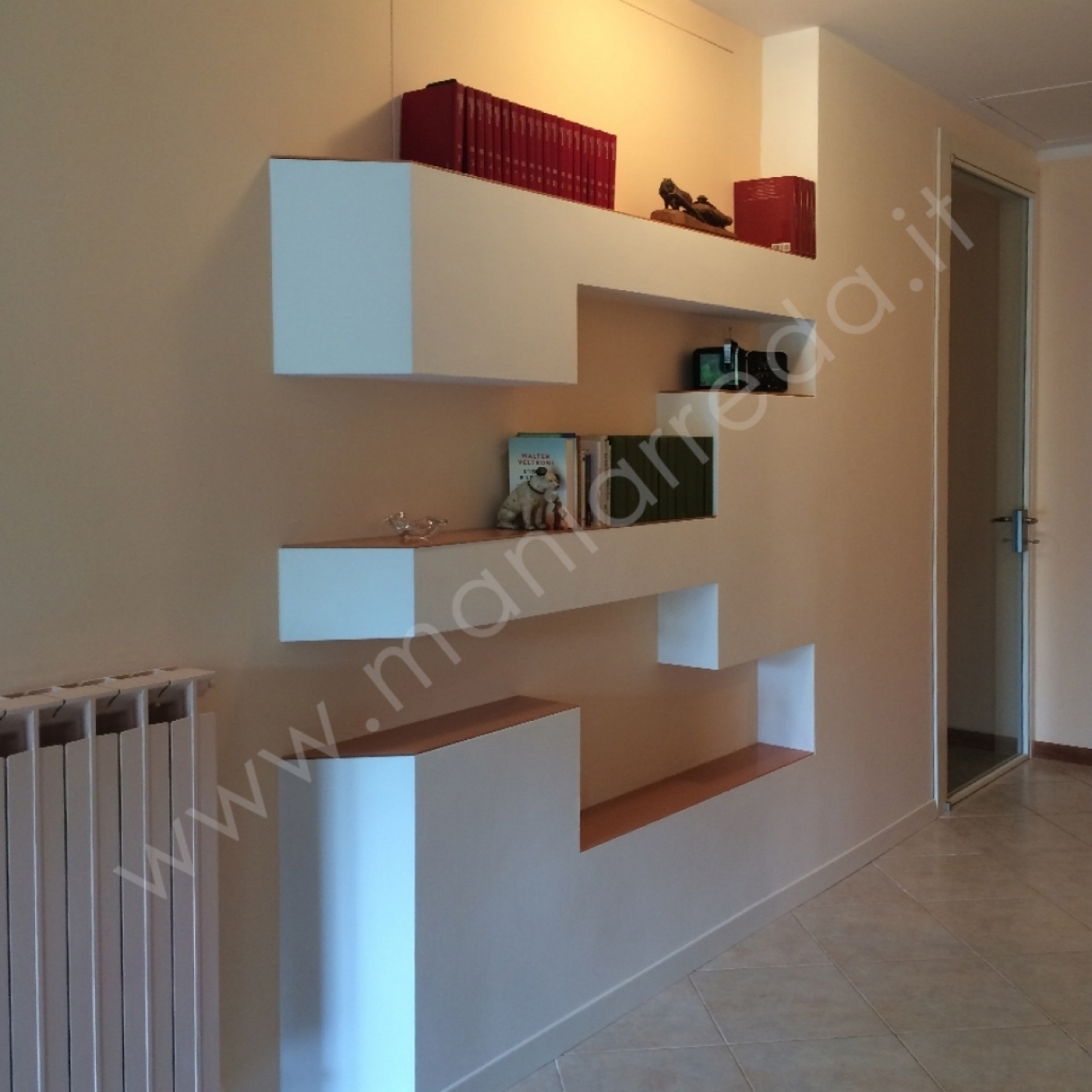 Libreria Cartongesso E Vetro parete libreria cartongesso bologna   mania